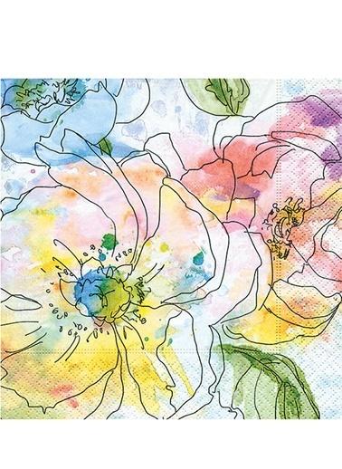Watercolour Blooms Peçete-Dünya Style